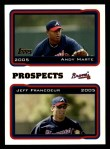 2005 Topps #691  Andy Marte / Jeff Francoeur  Front Thumbnail