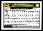 2008 Topps #14  Lenny DiNardo  Back Thumbnail