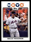 2008 Topps #65  Billy Wagner  Front Thumbnail