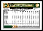 2008 Topps #198  Shannon Stewart  Back Thumbnail