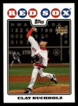 2008 Topps #232  Clay Buchholz  Front Thumbnail