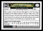 2008 Topps #284  Lance Broadway  Back Thumbnail