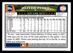 2008 Topps #334  Oliver Perez  Back Thumbnail