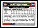 2008 Topps #380  Grady Sizemore  Back Thumbnail