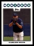 2008 Topps #433  Carlos Silva  Front Thumbnail