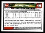 2008 Topps #496  Brad Lidge  Back Thumbnail