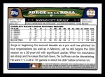 2008 Topps #622  Jorge De La Rosa  Back Thumbnail