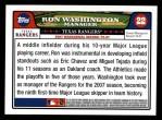 2008 Topps #22  Ron Washington  Back Thumbnail
