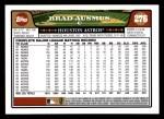 2008 Topps #276  Brad Ausmus  Back Thumbnail