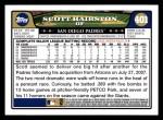 2008 Topps #401  Scott Hairston  Back Thumbnail