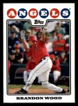 2008 Topps #437  Brandon Wood  Front Thumbnail