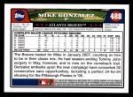 2008 Topps #488  Mike Gonzalez  Back Thumbnail
