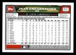 2008 Topps #526  Juan Encarnacion  Back Thumbnail