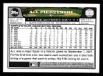 2008 Topps #565  A.J. Pierzynski  Back Thumbnail