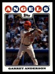 2008 Topps #611  Garret Anderson  Front Thumbnail