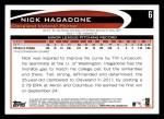 2012 Topps #6  Nick Hagadone  Back Thumbnail