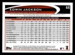 2012 Topps #44  Edwin Jackson  Back Thumbnail