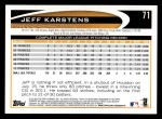 2012 Topps #71  Jeff Karstens  Back Thumbnail