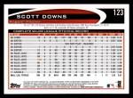 2012 Topps #123  Scott Downs  Back Thumbnail