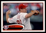 2012 Topps #392  Cliff Lee  Front Thumbnail