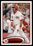 2012 Topps #508  Brandon Phillips  Front Thumbnail