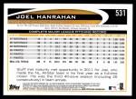 2012 Topps #531  Joel Hanrahan  Back Thumbnail