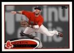 2012 Topps #540  Dustin Pedroia  Front Thumbnail