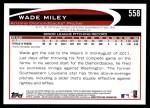 2012 Topps #558  Wade Miley  Back Thumbnail