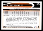 2012 Topps #625  Tommy Hunter  Back Thumbnail
