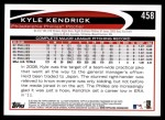 2012 Topps #458  Kyle Kendrick  Back Thumbnail