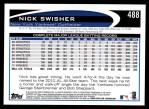 2012 Topps #488  Nick Swisher  Back Thumbnail