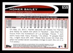 2012 Topps #659  Homer Bailey  Back Thumbnail