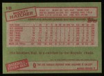 1985 Topps #18  Mickey Hatcher  Back Thumbnail