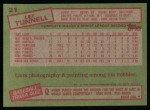 1985 Topps #21  Lee Tunnell  Back Thumbnail