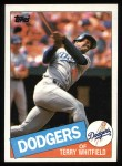 1985 Topps #31  Terry Whitfield  Front Thumbnail
