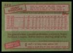 1985 Topps #222  Hubie Brooks  Back Thumbnail