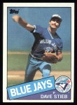 1985 Topps #240  Dave Stieb  Front Thumbnail