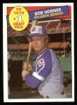 1985 Topps #276  Bob Horner  Front Thumbnail