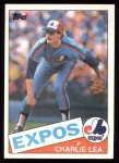 1985 Topps #345  Charlie Lea  Front Thumbnail