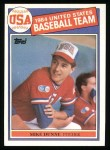 1985 Topps #395   -  Mike Dunne Team USA Front Thumbnail