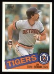 1985 Topps #512  Tom Brookens  Front Thumbnail
