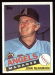 1985 Topps #732  John McNamara  Front Thumbnail