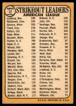1968 Topps #12   -  Dean Chance / Jim Lonborg / Sam McDowell AL Strikeout Leaders Back Thumbnail