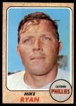 1968 Topps #306  Mike Ryan  Front Thumbnail