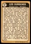 1968 Topps #321  Leo Durocher  Back Thumbnail