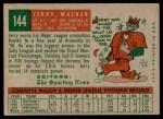1959 Topps #144  Jerry Walker  Back Thumbnail