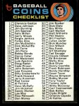 1971 Topps #161   Coins Checklist Front Thumbnail