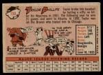 1958 Topps #159  Taylor Phillips  Back Thumbnail