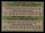 1971 Topps #188   -  Bobby Valentine / Mike Strahler Dodgers Rookies Back Thumbnail
