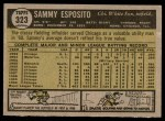 1961 Topps #323  Sammy Esposito  Back Thumbnail